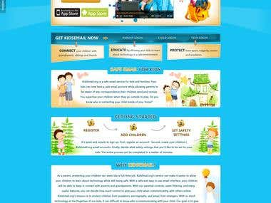 Kids Mail Web Design