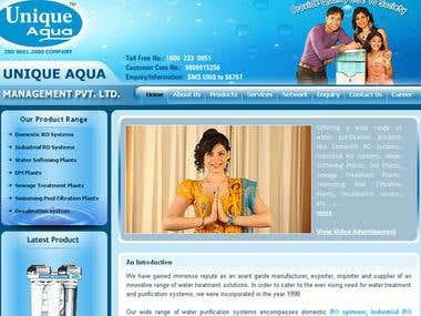 Unique Aqua - WordPress