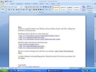 Link bilding.,Posting work,prodect Entry.SMM,SMO