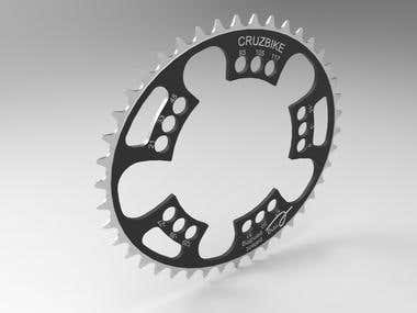 Triple elliptical chain ring