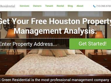 Property Search Engine website Wordpresss