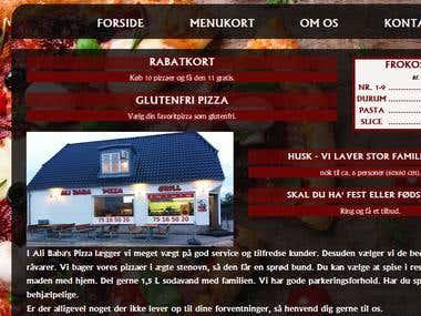 Website for local pizzeria