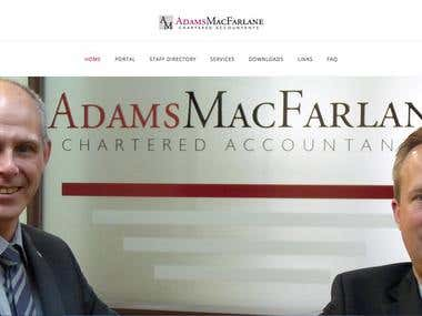 Website for accounting company