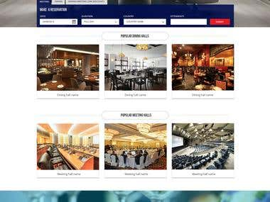Hotel + Dining+Meeting website