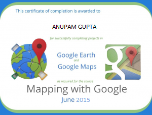GOOGLE MAPS EARTH CERTIFICATE