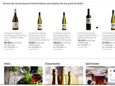 Shop.eurovine.de (German wine store)