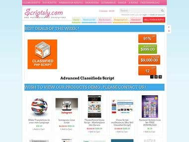 Scriptsly is the largest website clones Marketplace