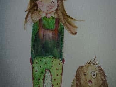 illustrations on aquarel paper