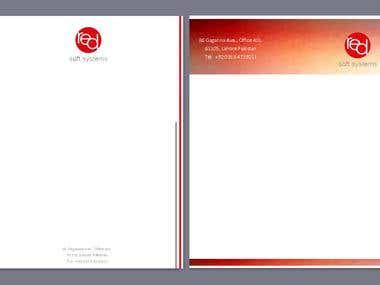 Company letterhead design  company Name Red Soft Syst