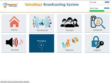 VoiceBroadcast Application