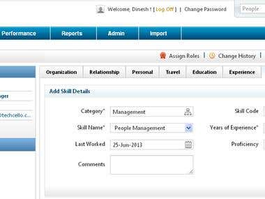 Employee handling portal for a orgnization