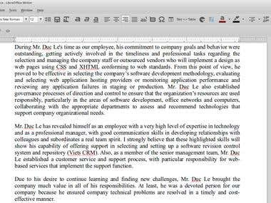 Write an employment authorization letter template
