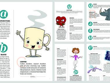 Illustrations for A to Z Wellness