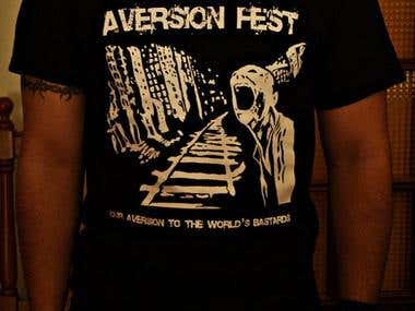 T-shirt design for Aversion Fest 2011