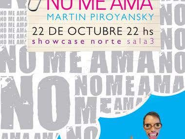 "Poster design for short film ""No Me Ama"""