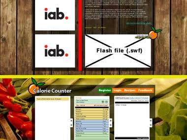 Web Design: e-calorie