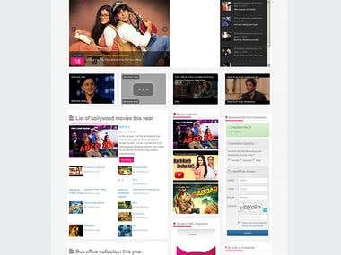 Bollywood  khichdi this is dynamic business website.