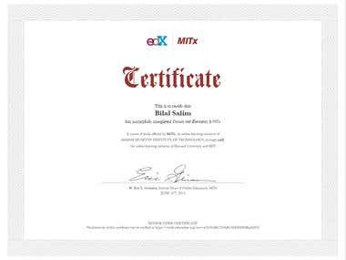 Circuits and Electronics 6.002x Certificate from MIT