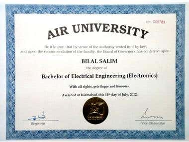 Bachelors of Electronics Engineering Degree