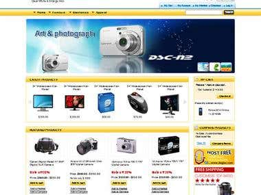 Online electronic shopping website- Magento