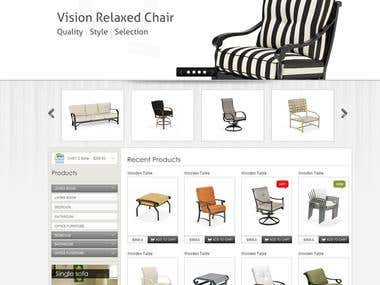 Furniture sales website
