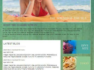 Summer Camp (Web Design)