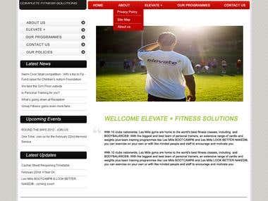 Fitness Club Website