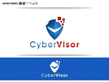 "logo design for ""Cyber Visor\"""