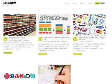 Blog Wordpress Creatium