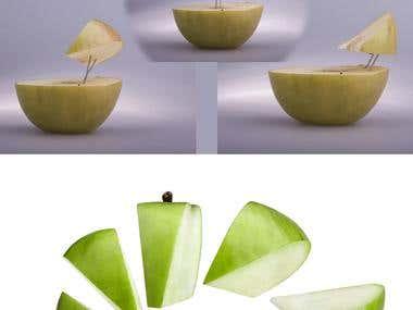 Food image manipulation.