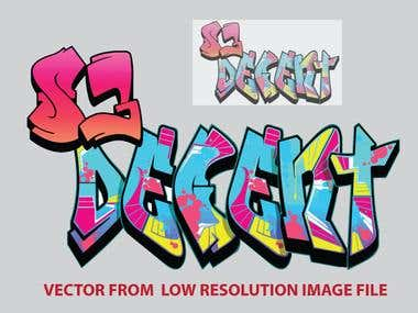 converting your low resolution jpg, png file to vector