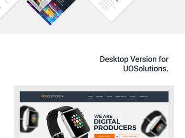 Desktop and Mobile version