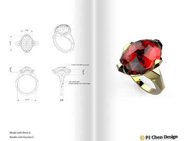 Jewelry Design and 3D modeling