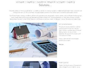 Website for real estate company