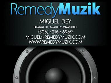 Business Card Design Remedy Muzik