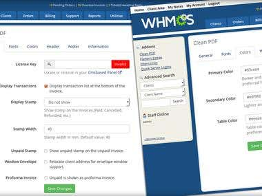 Development  invoice generation module for WHMCS