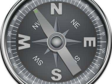 Compass designs for navigation web app