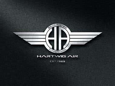 Bruce Hartwig Flying School Logo Design