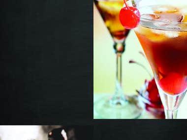 Drink menu, flyer design