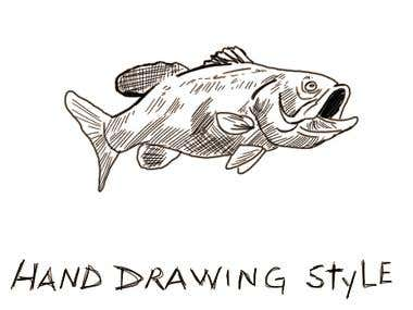 Hand draw style-Colouring Book