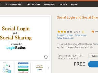 Social Login - A Magento Extension