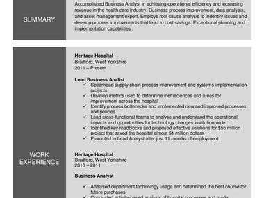 Formatting resume in Word doc