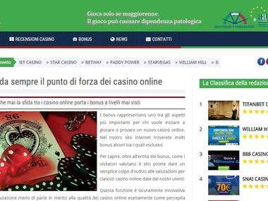 CASINO AFFILIATE WEBSITE - TURNKEY FROM DRAFT