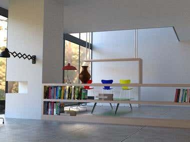 Arquitetura Visualização . Interiores Fotorealista