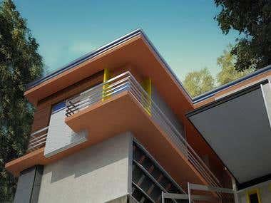 Modern villa style