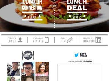 Get lunched - Web design