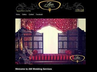 AM Weddings Website