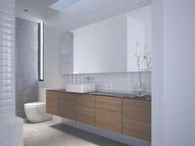 bathroom interior render