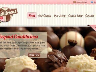 Condilicious  Websites Design 2nd part