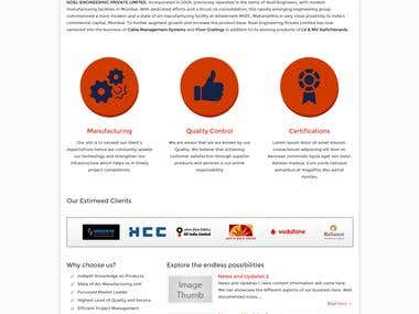 Corporate Manufacturing Company Website